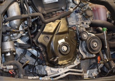 Audi A4 front of engine