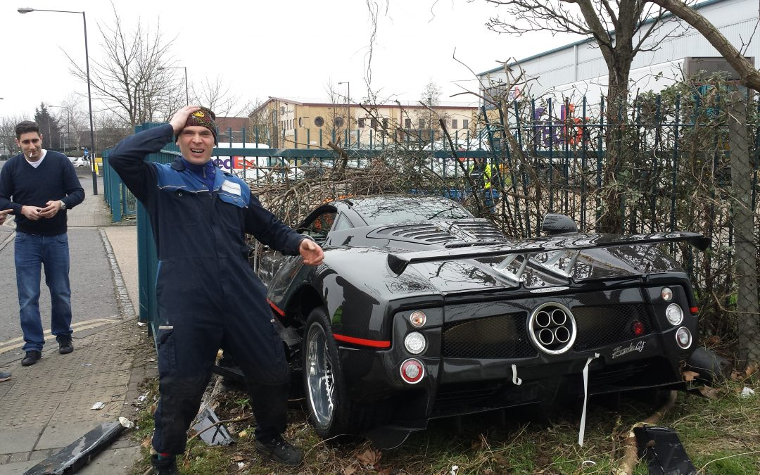 Pagani Zonda Crash